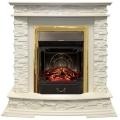 Каминокомплект Royal Flame портал Luzern сланец белый с очагом Fobos/Majestic