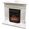 Каминокомплект Royal Flame портал Sorrento угловой белый дуб с очагом Fobos/Majestic