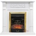 Каминокомплект Royal Flame портал Venice фактурный белый с очагом Fobos/Majestic