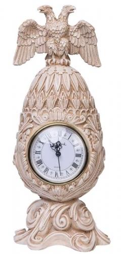 Каминные часы Фаберже Державные RF2053 IV (Белая коллекция).jpg