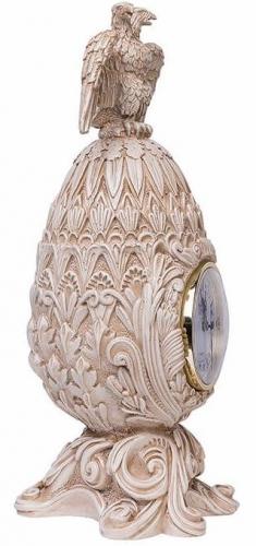 Каминные часы Фаберже Державные RF2053 IV (Белая коллекция)-1.jpg