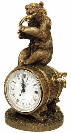 Каминные часы Медведь с добычей RF2045AB.jpg