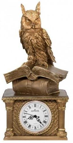 Каминные часы Сова на книгах RF2031AB.jpg