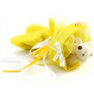 Букет № 3ж Мишка желтый