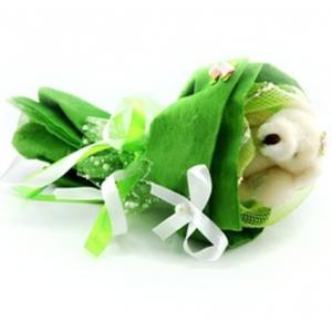 Букет № 3з Мишка зеленый
