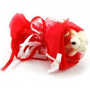 Букет № 3к  Мишка красный