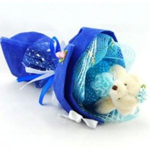 Букет № 3с Мишка синий