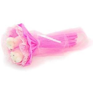 Букет № 5р Мишки розовый