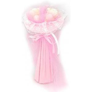 Букет № 5ср Мишки светло-розовый