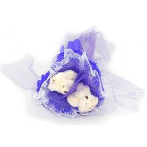 Букет № 5с Мишки синий