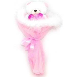 Букет № 6р Мишка розовый