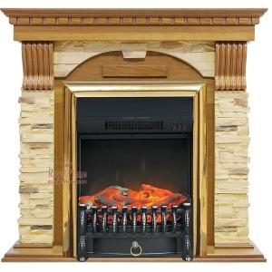 Каминокомплект Royal Flame портал Dublin арочный сланец с очагом Fobos/Majestic