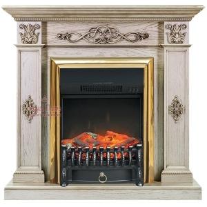 Каминокомплект Royal Flame портал Derby old silver с очагом Fobos/Majestic