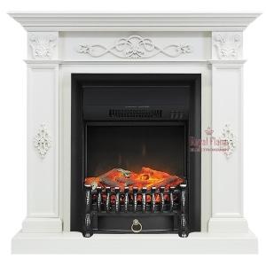 Каминокомплект Royal Flame портал Derby белый дуб с очагом Fobos/Majestic