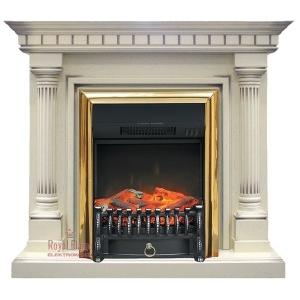 Каминокомплект Royal Flame портал Dallas слоновая кость с очагом Fobos/Majestic