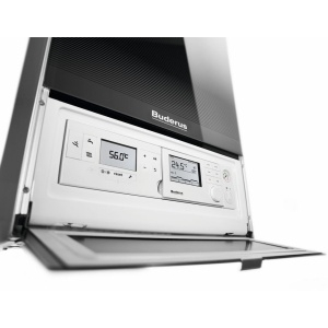 Конденсационный газовый одноконтурный котел Buderus Logamax plus GB172-42 iW H белый/черный