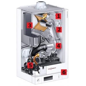 Конденсационный газовый одноконтурный котел Viessman Vitodens 100-W B1HC041 (4,3-17,4) кВт
