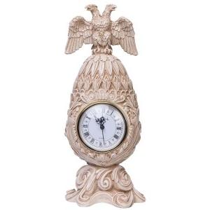 Каминные часы Фаберже Державные RF2053 IV (Белая коллекция)