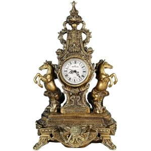 Каминные часы Дворцовые с лошадьми RF2027AB