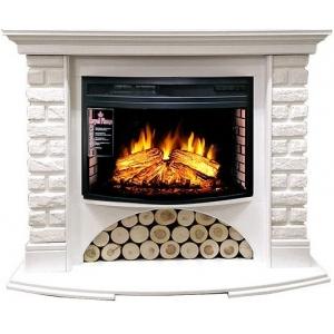 Каминокомплект Royal Flame портал Village кирпич белый с очагом Dioramic 25 FX