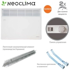 Конвектор электрический NeoClima Comforte T 2,0 + ножки