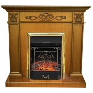 Каминокомплект Royal Flame портал Verona дуб антик с очагом Fobos/Majestic