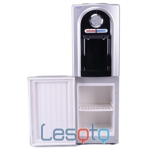 Кулер с холодильником Lesoto 555 L-B silver-black