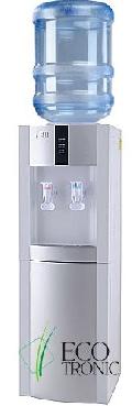 Напольный кулер с холодильником Ecotronic H1-LF white-silver