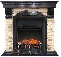 Каминокомплект Royal Flame портал Dublin арочный сланец/сланец белый с очагом Fobos/Majestic