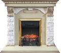 Каминокомплект Royal Flame портал Dublin арочный сланец крем с очагом Fobos/Majestic