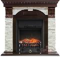 Каминокомплект Royal Flame портал Dublin сланец белый с очагом Fobos/Majestic