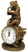 Каминные часы Медведь с добычей RF2045AB