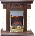 Каминокомплект Royal Flame портал Luxemburg темный дуб с очагом Fobos/Majestic
